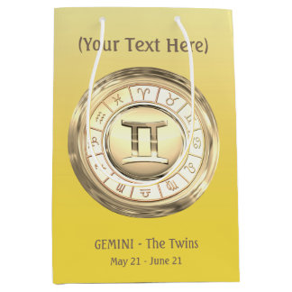 Gemini - The Twins Zodiac Sign Medium Gift Bag