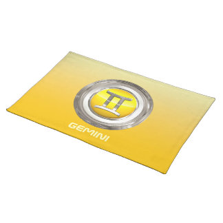 Gemini - The Twins Zodiac Sign Placemats