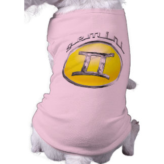 Gemini - The Twins Zodiac Sign Sleeveless Dog Shirt