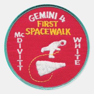 Gemini Titan 4: McDivitt and Young Classic Round Sticker