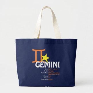 Gemini Traits Dark Tote