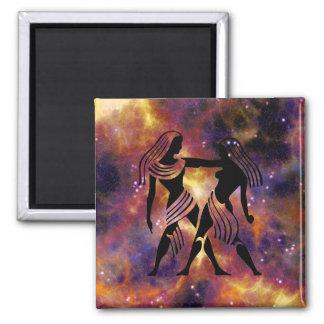 Gemini Twins Zodiac Sign Magnet