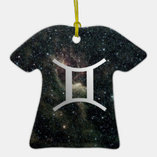 Gemini Twins Zodiac Star Sign Universe Birthday Ornaments