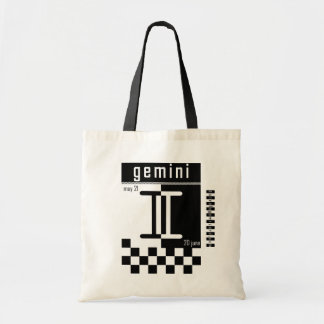 Gemini Two-Tone Zodiac Bag. Tote Bag