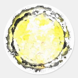 Gemini Yellow Moon Sticker