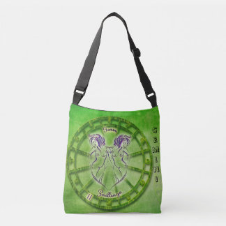Gemini Zodiac Astrology design Crossbody Bag