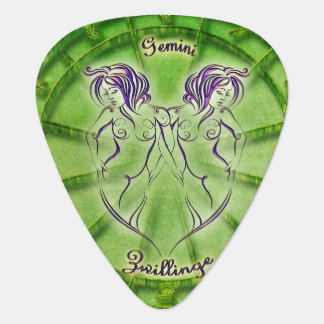 Gemini Zodiac Astrology design Guitar Pick