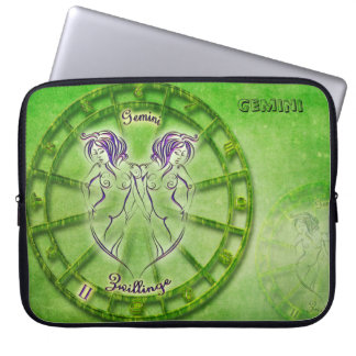 Gemini Zodiac Astrology design Laptop Sleeve