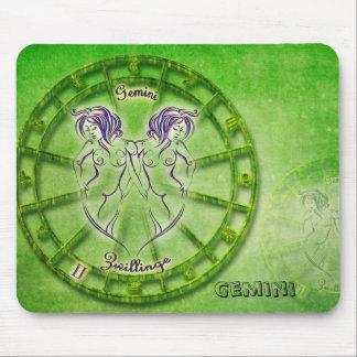 Gemini Zodiac Astrology design Mouse Pad