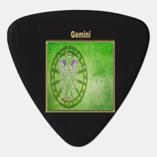 Gemini Zodiac Astrology design Plectrum