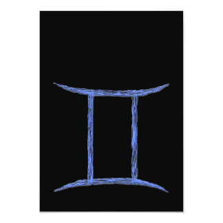 Gemini. Zodiac Astrology Sign. 13 Cm X 18 Cm Invitation Card