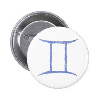 Gemini Zodiac Astrology Sign Button