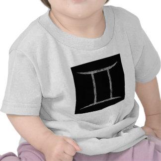 Gemini. Zodiac Astrology Sign. Black. T Shirts
