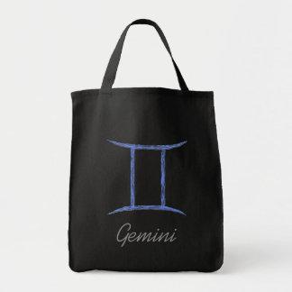 Gemini. Zodiac Astrology Sign. Grocery Tote Bag