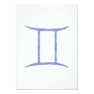 Gemini. Zodiac Astrology Sign. Custom Invite
