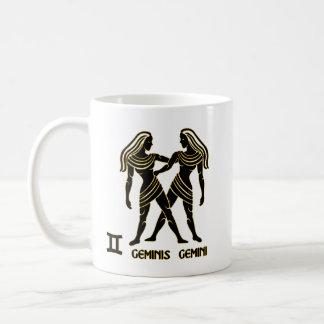 Gemini Zodiac Black Gold Modern Mug Tea Cup