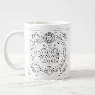 Gemini Zodiac Custom Birthday Mug