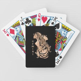 Gemini Zodiac Design Bicycle Playing Cards