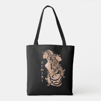 Gemini Zodiac Design Tote Bag