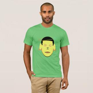 Gemini Zodiac Galactic Dreamer Yellow Head T-Shirt