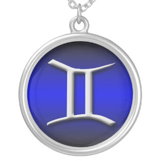 Gemini Zodiac Royal Blue Gradient ~ Necklace