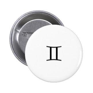 Gemini - Zodiac Sign Pinback Buttons
