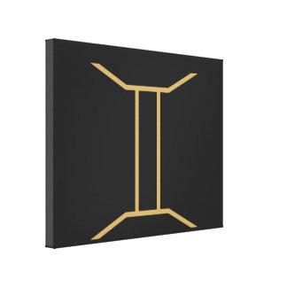 Gemini Zodiac Sign Basic Canvas Print