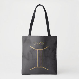 Gemini Zodiac Sign | Custom Background + Text Tote Bag