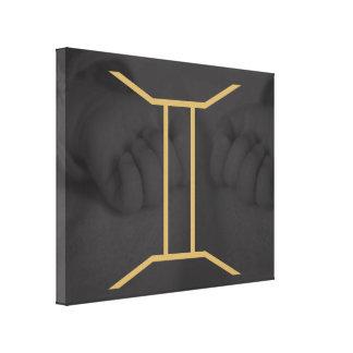 Gemini Zodiac Sign | customizable Background Canvas Print