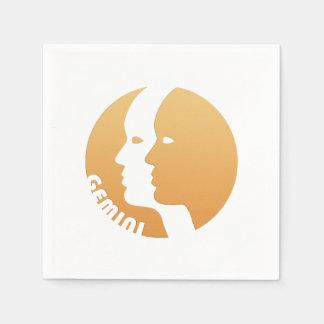 Gemini Zodiac Sign Disposable Serviette