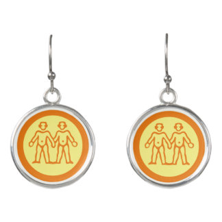 Gemini Zodiac Sign Earrings