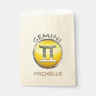 Gemini Zodiac Sign Favour Bags