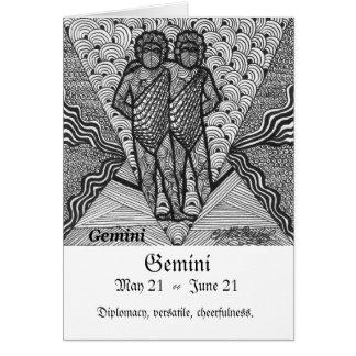 Gemini  (Zodiac sign) Greeting Card