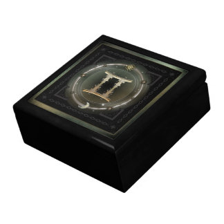 Gemini Zodiac Sign Large Square Gift Box