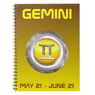 Gemini Zodiac Sign Note Books