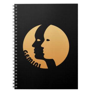 Gemini Zodiac Sign Note Book