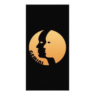 Gemini Zodiac Sign Customized Photo Card