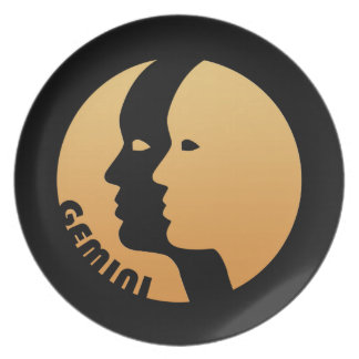 Gemini Zodiac Sign Party Plate