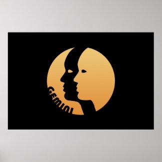 Gemini Zodiac Sign Poster