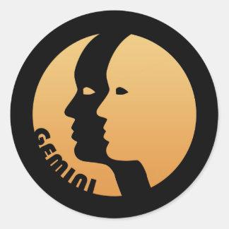 Gemini Zodiac Sign Round Sticker