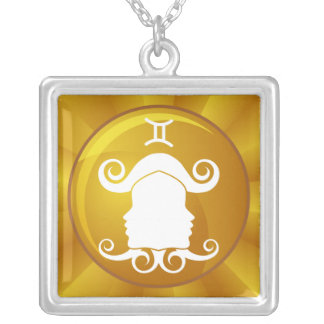 Gemini Zodiac Sign Silver Plated Necklace