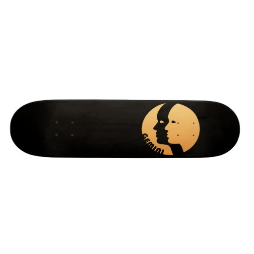 Gemini Zodiac Sign Skateboard