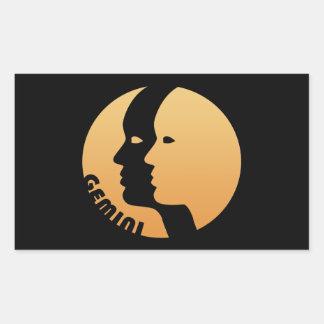 Gemini Zodiac Sign Rectangular Stickers