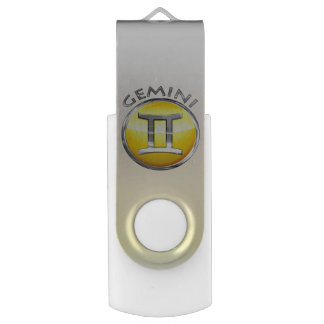 Gemini Zodiac Sign Swivel USB 3.0 Flash Drive