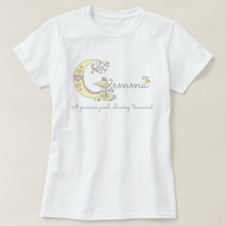 Gemma girls name decorative custom meaning T-Shirt