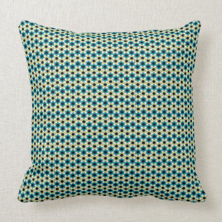 Gemoetric Octagon turquois pattern on white Cushion