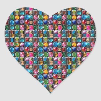 Gems Jewels Crystals Christmas Collections Heart Sticker