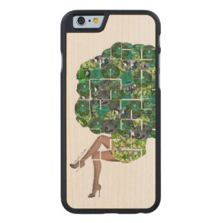 Gems of Broccoli Carved Maple iPhone 6 Case