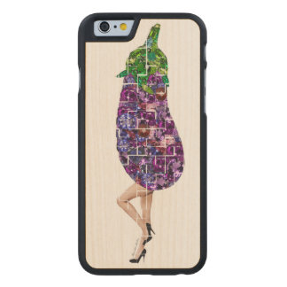 Gems of Eggplant Carved Maple iPhone 6 Case
