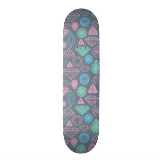 Gemstone Icon Pattern 21.6 Cm Old School Skateboard Deck